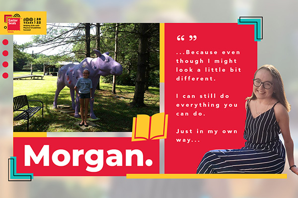 A quote from Morgan's poem - I can still do everything you can do.