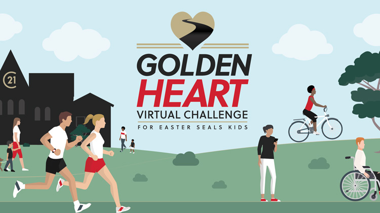Golden Heart Virtual Challenge for Easter Seal Kids