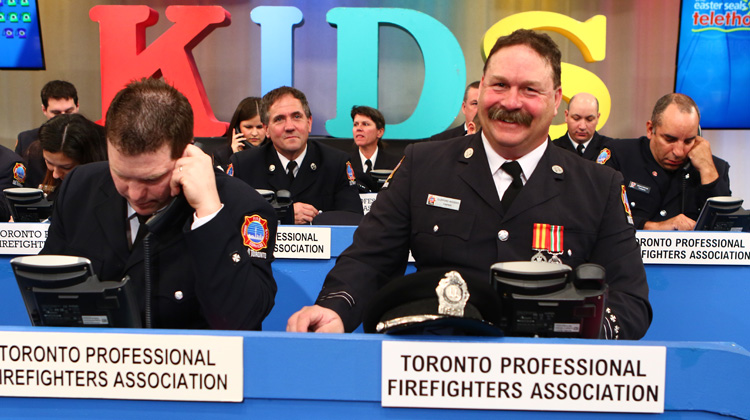 Toronto Firefighters answering the phones