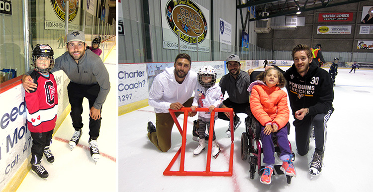 Skaters pose for pics with celebrity players