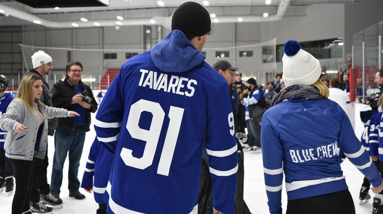 Tavares on the ice at last years skate