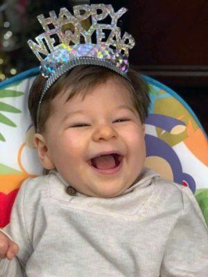 Nathanat his first birthday